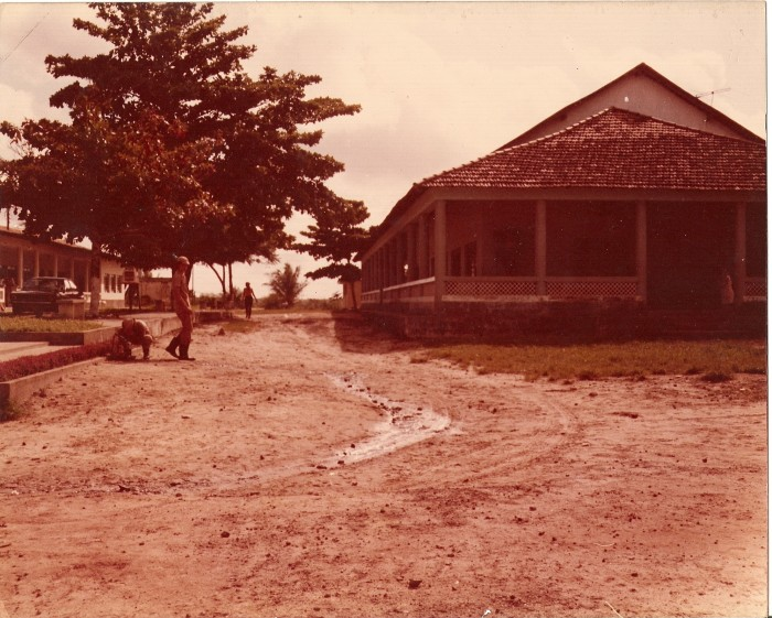 Refeitório do campus em 1978